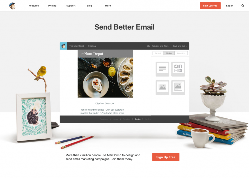 mailchimp - signup - for free